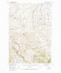 Anceney Montana Historical topographic map, 1:62500 scale, 15 X 15 Minute, Year 1949