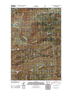 Antelope Creek Montana Historical topographic map, 1:24000 scale, 7.5 X 7.5 Minute, Year 2011