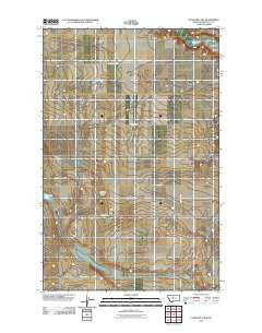 Antelope Lake Montana Historical topographic map, 1:24000 scale, 7.5 X 7.5 Minute, Year 2011