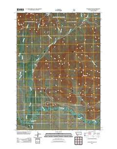 Antelope Peak Montana Historical topographic map, 1:24000 scale, 7.5 X 7.5 Minute, Year 2011