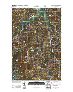 Ashley Mountain Montana Historical topographic map, 1:24000 scale, 7.5 X 7.5 Minute, Year 2011