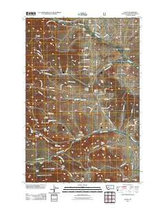 Austin Montana Historical topographic map, 1:24000 scale, 7.5 X 7.5 Minute, Year 2011