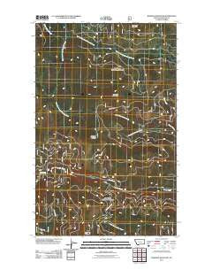 Banfield Mountain Montana Historical topographic map, 1:24000 scale, 7.5 X 7.5 Minute, Year 2011