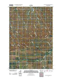 Beaver Flats North Montana Historical topographic map, 1:24000 scale, 7.5 X 7.5 Minute, Year 2011
