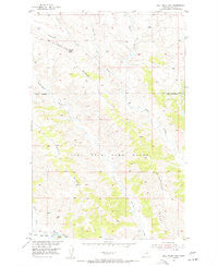 Bell Ridge East Montana Historical topographic map, 1:24000 scale, 7.5 X 7.5 Minute, Year 1954