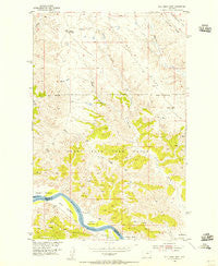 Bell Ridge West Montana Historical topographic map, 1:24000 scale, 7.5 X 7.5 Minute, Year 1954