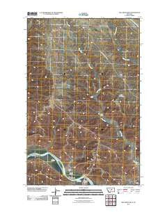 Bell Ridge West Montana Historical topographic map, 1:24000 scale, 7.5 X 7.5 Minute, Year 2011