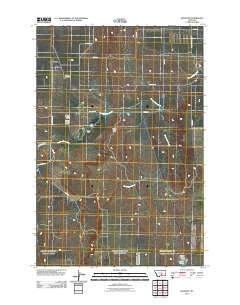Belmont Montana Historical topographic map, 1:24000 scale, 7.5 X 7.5 Minute, Year 2011