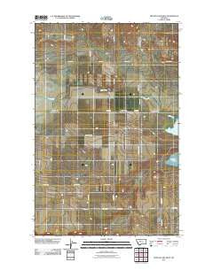 Benton Lake West Montana Historical topographic map, 1:24000 scale, 7.5 X 7.5 Minute, Year 2011