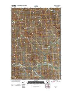 Benzien Montana Historical topographic map, 1:24000 scale, 7.5 X 7.5 Minute, Year 2011