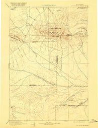 Big Snowy Mountain Montana Historical topographic map, 1:250000 scale, 1 X 1 Degree, Year 1893