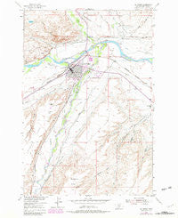 Big Timber Montana Historical topographic map, 1:24000 scale, 7.5 X 7.5 Minute, Year 1954