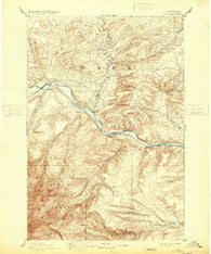 Big Timber Montana Historical topographic map, 1:125000 scale, 30 X 30 Minute, Year 1893