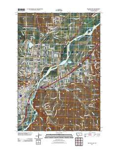 Billings East Montana Historical topographic map, 1:24000 scale, 7.5 X 7.5 Minute, Year 2011
