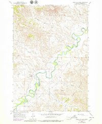 Birney Day School Montana Historical topographic map, 1:24000 scale, 7.5 X 7.5 Minute, Year 1966