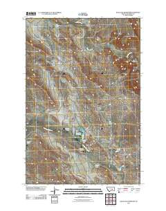 Black Sea Reservoir Montana Historical topographic map, 1:24000 scale, 7.5 X 7.5 Minute, Year 2011
