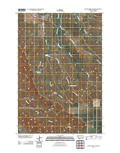Board Corral Creek Montana Historical topographic map, 1:24000 scale, 7.5 X 7.5 Minute, Year 2011