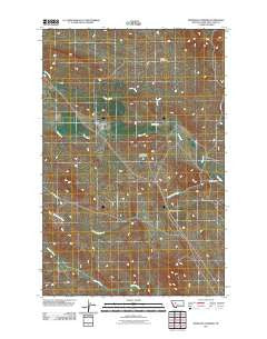 Bowmans Corners Montana Historical topographic map, 1:24000 scale, 7.5 X 7.5 Minute, Year 2011