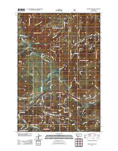 Bozeman Pass Montana Historical topographic map, 1:24000 scale, 7.5 X 7.5 Minute, Year 2011