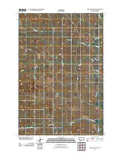 Bracket Butte SE Montana Historical topographic map, 1:24000 scale, 7.5 X 7.5 Minute, Year 2011