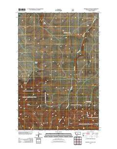 Browns Canyon Montana Historical topographic map, 1:24000 scale, 7.5 X 7.5 Minute, Year 2011