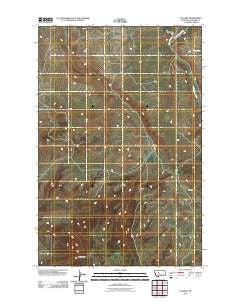 Calvert Montana Historical topographic map, 1:24000 scale, 7.5 X 7.5 Minute, Year 2011