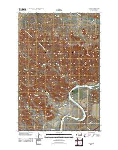 Calypso Montana Historical topographic map, 1:24000 scale, 7.5 X 7.5 Minute, Year 2011
