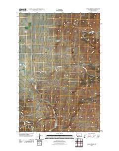Camas Prairie Montana Historical topographic map, 1:24000 scale, 7.5 X 7.5 Minute, Year 2011