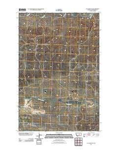 Cat Creek NW Montana Historical topographic map, 1:24000 scale, 7.5 X 7.5 Minute, Year 2011