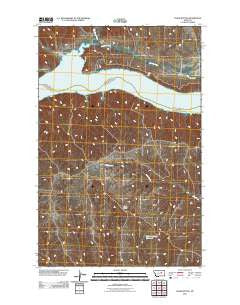 Chain Buttes Montana Historical topographic map, 1:24000 scale, 7.5 X 7.5 Minute, Year 2011