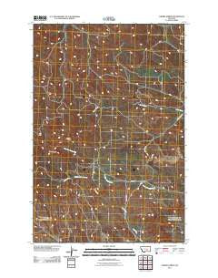 Cherry Spring Montana Historical topographic map, 1:24000 scale, 7.5 X 7.5 Minute, Year 2011