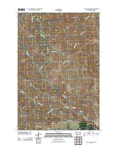 Coal Bank Creek Montana Historical topographic map, 1:24000 scale, 7.5 X 7.5 Minute, Year 2011