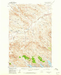 Collins Ranch Montana Historical topographic map, 1:62500 scale, 15 X 15 Minute, Year 1958