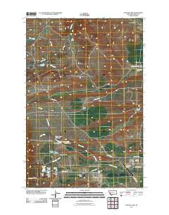 Conleys Lake Montana Historical topographic map, 1:24000 scale, 7.5 X 7.5 Minute, Year 2011