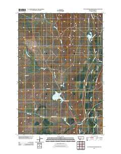 Cottonwood Reservoir Montana Historical topographic map, 1:24000 scale, 7.5 X 7.5 Minute, Year 2011