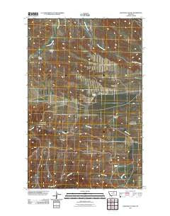 Crazyman Coulee Montana Historical topographic map, 1:24000 scale, 7.5 X 7.5 Minute, Year 2011