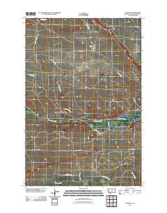 Cushman Montana Historical topographic map, 1:24000 scale, 7.5 X 7.5 Minute, Year 2011