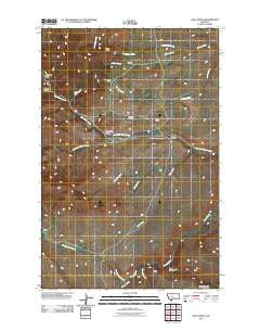Dana Ranch Montana Historical topographic map, 1:24000 scale, 7.5 X 7.5 Minute, Year 2011