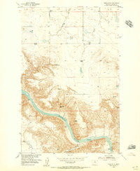 Dark Butte Montana Historical topographic map, 1:24000 scale, 7.5 X 7.5 Minute, Year 1954