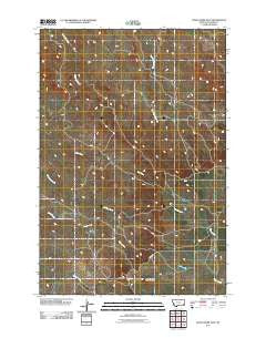 Davis Creek East Montana Historical topographic map, 1:24000 scale, 7.5 X 7.5 Minute, Year 2011
