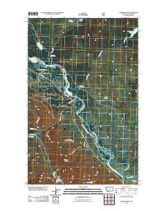 Demers Ridge Montana Historical topographic map, 1:24000 scale, 7.5 X 7.5 Minute, Year 2011