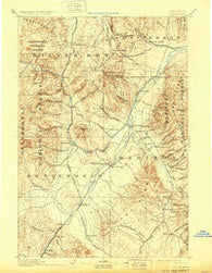 Dillon Montana Historical topographic map, 1:250000 scale, 1 X 1 Degree, Year 1893