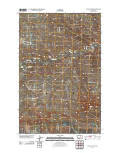 Dovetail Butte Montana Historical topographic map, 1:24000 scale, 7.5 X 7.5 Minute, Year 2011