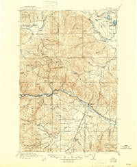 Drummond Montana Historical topographic map, 1:125000 scale, 30 X 30 Minute, Year 1921