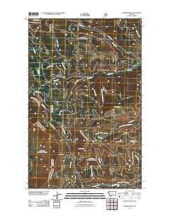Dunsire Point Montana Historical topographic map, 1:24000 scale, 7.5 X 7.5 Minute, Year 2011