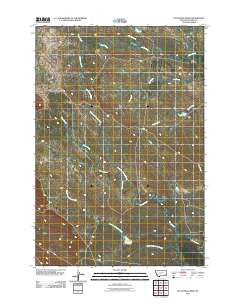 Dutchman Creek Montana Historical topographic map, 1:24000 scale, 7.5 X 7.5 Minute, Year 2011