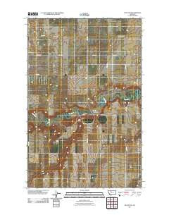 Dutton NE Montana Historical topographic map, 1:24000 scale, 7.5 X 7.5 Minute, Year 2011