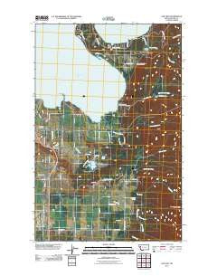 East Bay Montana Historical topographic map, 1:24000 scale, 7.5 X 7.5 Minute, Year 2011