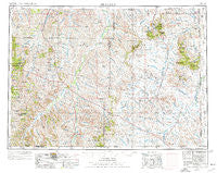 Ekalaka Montana Historical topographic map, 1:250000 scale, 1 X 2 Degree, Year 1954