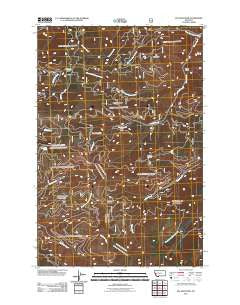 Elk Mountain Montana Historical topographic map, 1:24000 scale, 7.5 X 7.5 Minute, Year 2011